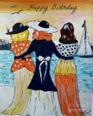 Painting - Happy Birthday Greeting Card by Jacqui Hawk