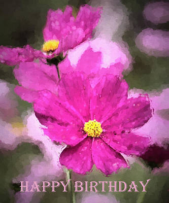Photograph - Happy Birthday - Greeting Cards by HH Photography of Florida