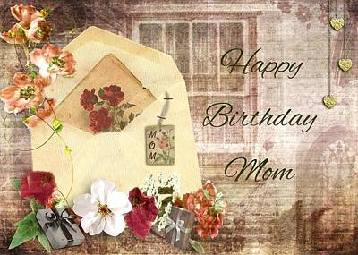 Mixed Media - Happy Birthday Mom by Paula Ayers