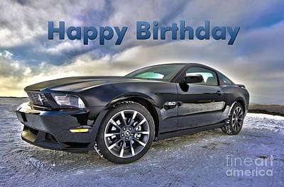 Digital Art - Happy Birthday Mustang by JH Designs
