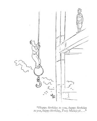 Messenger Drawing - Happy Birthday by Ned Hilton