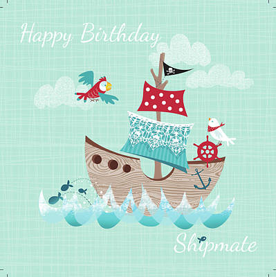 Occasion Painting - Happy Birthday Shipmate by P.s. Art Studios