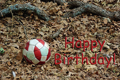 Photograph - Happy Birthday Soccer Ball by Robyn Stacey