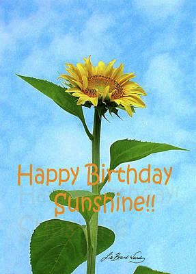Digital Art - Happy Birthday Sunshine by Lizi Beard-Ward