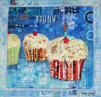 Collage Painting - Happy Birthday To You by Susan Minier