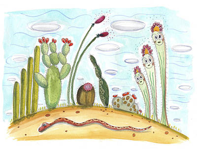 Painting - Happy Cacti by Marti McGinnis