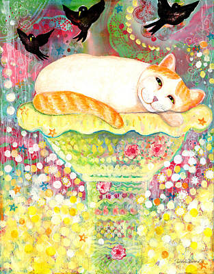 Catbird Dreamin Original by Deborah Burow