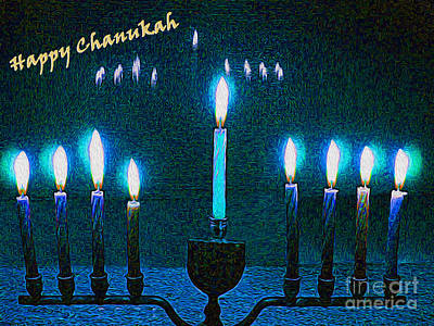 Chanukah Digital Art - Happy Chanukah by Nina Silver