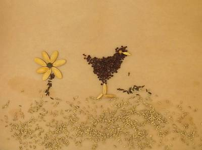 Happy Chicken Art Print by Jon Simmons