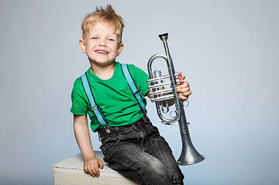 Beers On Tap - Happy child with trumpet by Simona Jasineviciene