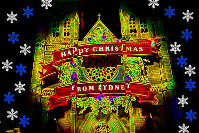 Photograph - Happy Christmas From Sydney by Miroslava Jurcik