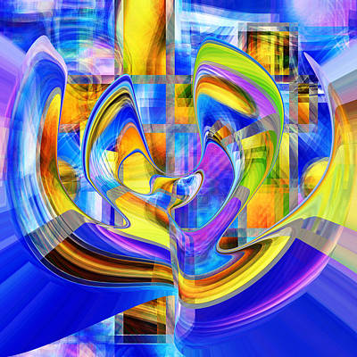 Digital Art - Happy City At Night by rd Erickson