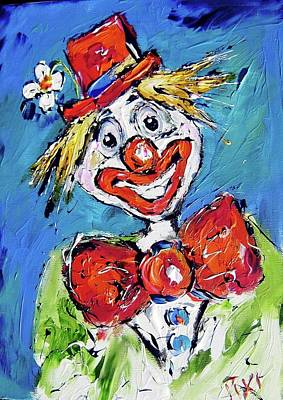 Clown Painting - Happy Clown-ideal For Childrens Nurserys by Mary Cahalan Lee- aka PIXI