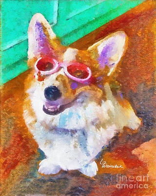 Art Print featuring the painting Alameda Happy Little Cancer Survivor  by Linda Weinstock