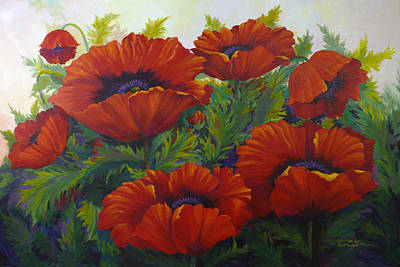 Happy Dance Red Poppies Art Print
