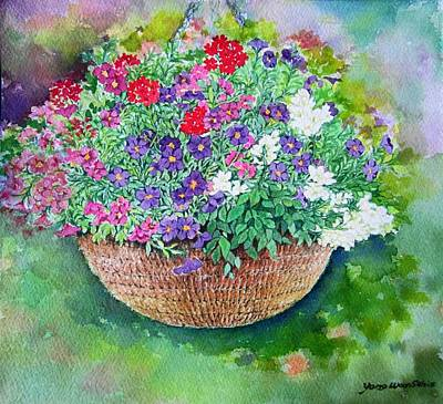 Small Basket Drawing - Happy Day by YongWoon Suh
