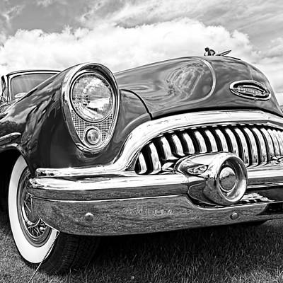 Photograph - Happy Days - '53 Buick Riviera Black And White by Gill Billington
