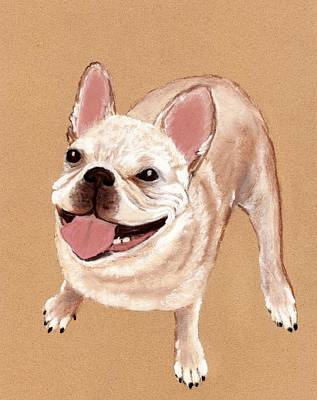 Happy Dog Art Print by Anastasiya Malakhova