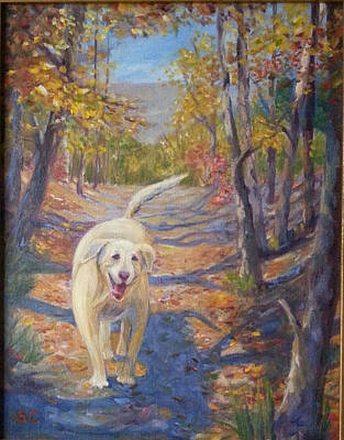 Painting - Happy Dog by Sharon Casavant