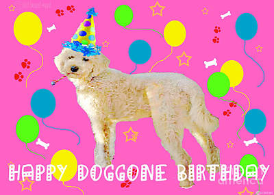 Digital Art - Happy Doggone Birthday by Lizi Beard-Ward