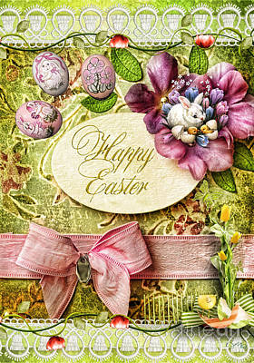 Happy Easter 2 Art Print by Mo T