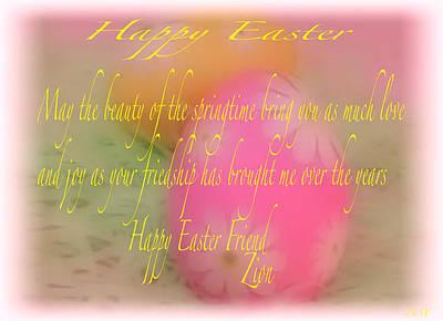 Photograph - Happy Easter Card by Debra     Vatalaro