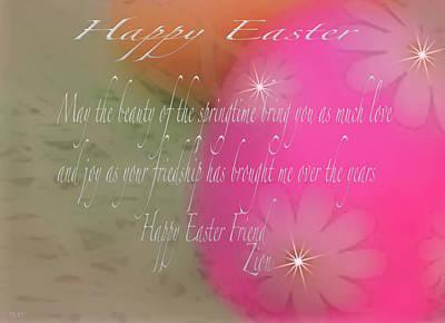 Photograph - Happy Easter Egg Card by Debra     Vatalaro