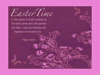 Photograph - Happy Easter Poem Card by Debra     Vatalaro