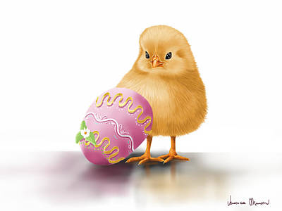 Easter Digital Art - Happy Easter by Veronica Minozzi