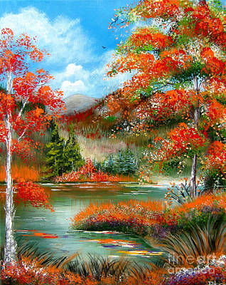 Happy Ever After Autumn  Art Print by Patrice Torrillo