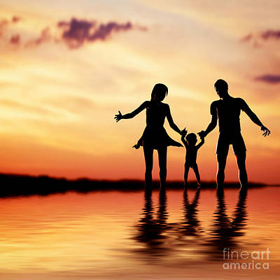 Parent Photograph - Happy Family by Michal Bednarek
