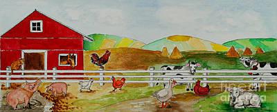 Happy Farm Art Print