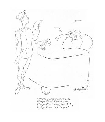 Wash Boards Drawing - Happy Fiscal Year by Garrett Price
