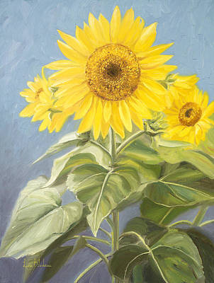 Sunflower Painting - Happy Flower by Lucie Bilodeau