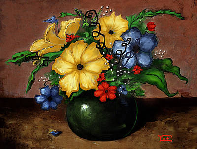 Painting - Happy Flowers by Terry Webb Harshman