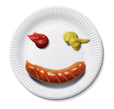 Happy Food Face Art Print by Smetek