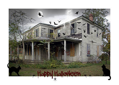 Happy Halloween Print by Brian Wallace