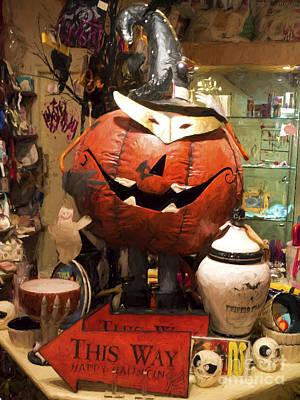 Jacko Photograph - Halloween This Way by Gillian Singleton