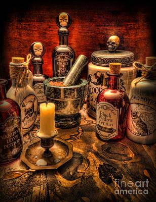 Mortar Photograph - Happy Halloween II by Lee Dos Santos