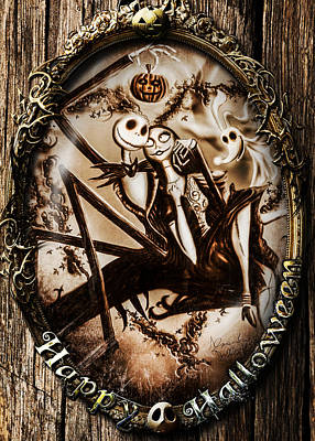 Happy Halloween IIi Sepia Version Art Print