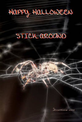 Photograph - Happy Halloween-stick Around by Ericamaxine Price