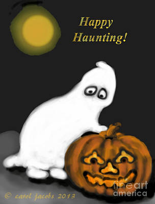 Painting - Happy Haunting by Carol Jacobs