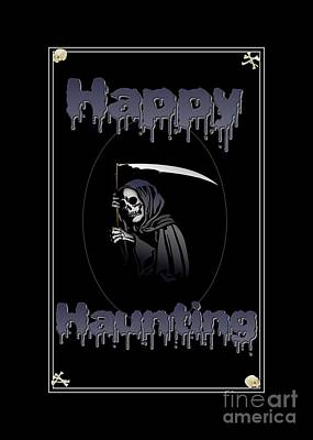 Digital Art - Happy Haunting by JH Designs