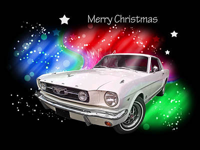 Photograph - Happy Holiday Mustang by Gill Billington