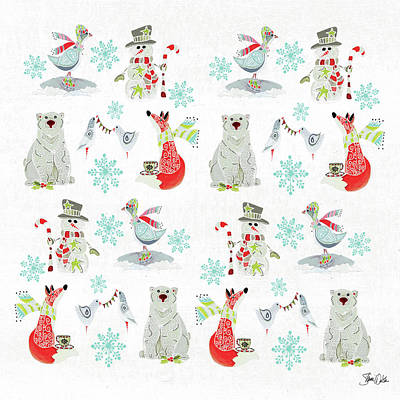 Holiday Painting - Happy Holiday Pattern by Shanni Welsh