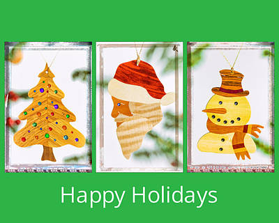 Photograph - Happy Holidays Art Message by Jo Ann Tomaselli