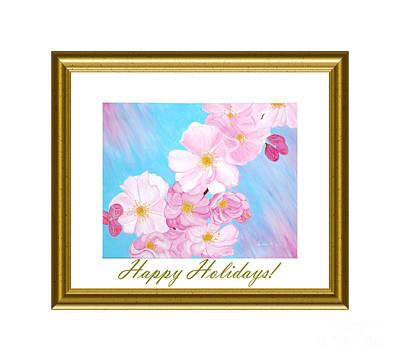 Digital Art - Happy Holidays. Cherry Blossom by Oksana Semenchenko