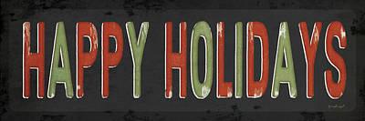 Holiday Painting - Happy Holidays Christmas by Jennifer Pugh