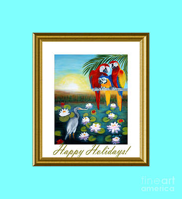 Digital Art - Happy Holidays Collection by Oksana Semenchenko