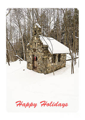 Stowe Vermont Photograph - Happy Holidays by Edward Fielding